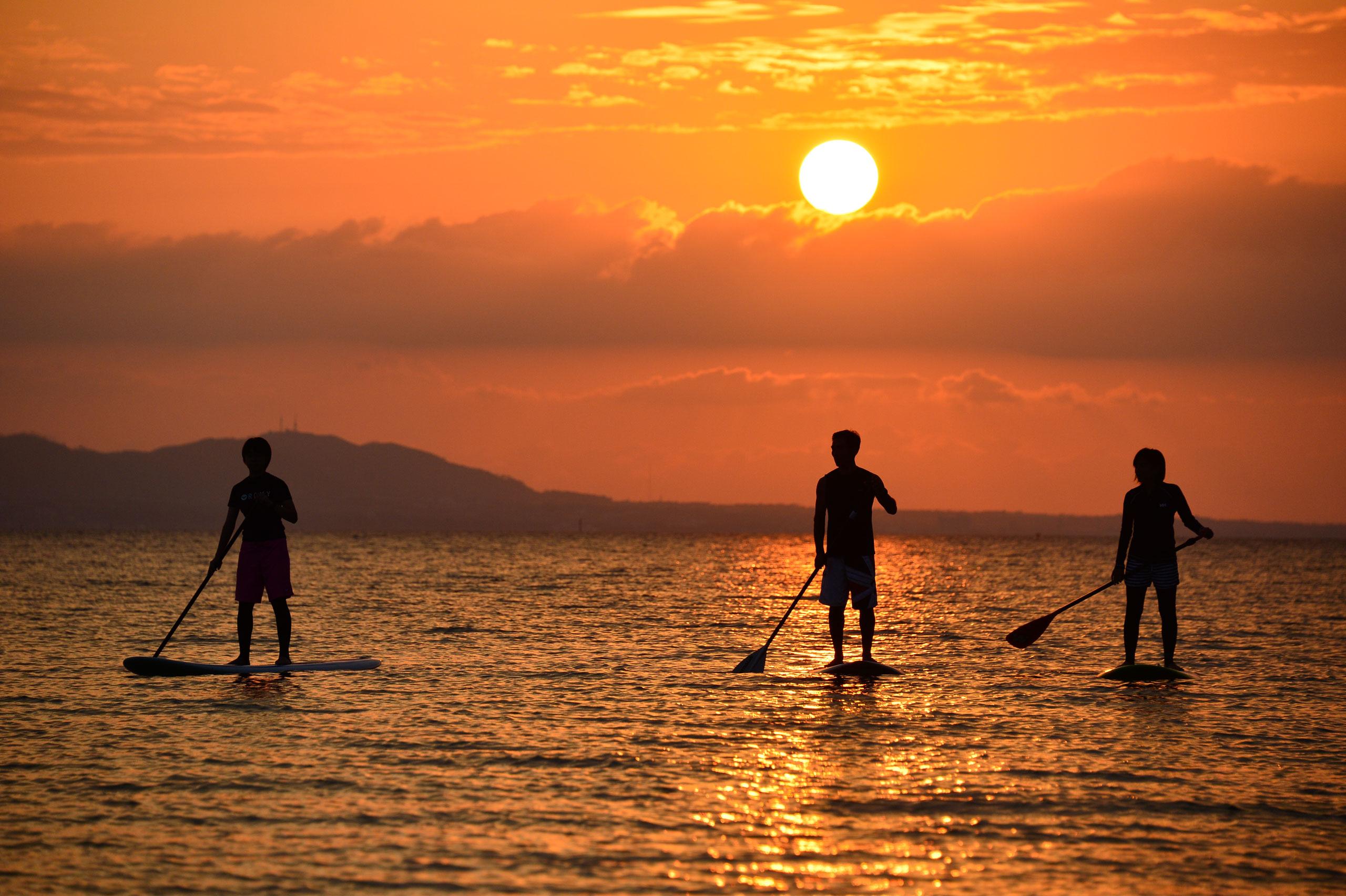 八重山諸島各地でSUPの人気急上昇中